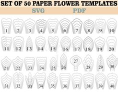 paper flower tutorial This item is unavailable 60 PDF and SVG file Paper Flower Templates, Large Paper Flower, Wedding Decoration Paper Flower Patterns, Paper Flowers Wedding, Tissue Paper Flowers, Paper Flower Wall, Paper Flower Backdrop, Paper Flower Tutorial, Flower Petal Template, Flower Svg, Leaf Template