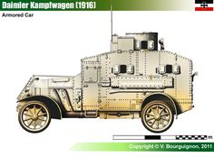Armored Vehicles, Armored Car, Word Of Tank, Ww1 Tanks, Military Equipment, German Army, Military Art, War Machine, Wwi
