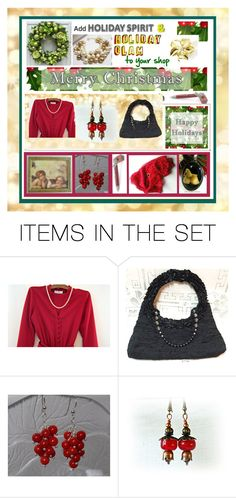 Holiday Spirit & Holiday Glam by owlartshop on Polyvore featuring art, integrityTT and EtsySpecialT