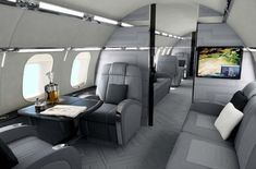 Bombardier Global Express Interior | BOMBARDIER GLOBAL XRS SECOND CABIN