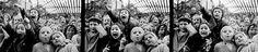 """""""three frames of children at puppet show,"""" alfred eisenstaedt 1963"""