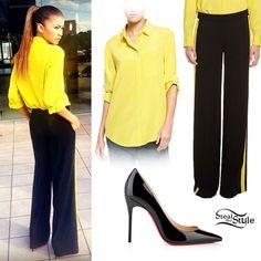 Zendaya: Yellow Blouse, Tuxedo Pants
