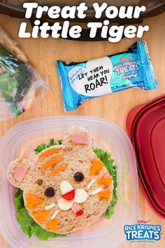 Rice Krispies Treats are the perfect snack for sending inspirational messages to your kids during lunch. But why stop there? Earn your stripes as a parent by crafting a ferocious feline out of their sandwich. Lunch time has never been so fun!