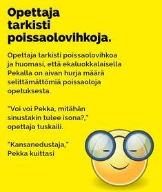 Vitsit: Opettaja tarkisti poissaolovihkoja - Kohokohta.com