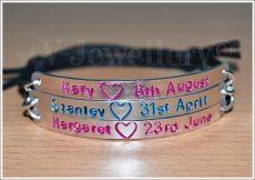 Personalised Triple Multi-Plate Hand Stamped Bracelet