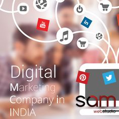 In order to make your product or service popular most important thing is Digital Marking. Digital Marketing is a techniques that will aware peoples your brand or quality services. The SAM Web Studio is a leading Digital Marketing Company in India; have more than 5+ years experience in Digital Marketing and handle successfully 300+ worldwide projects. We offer best price result oriented SEO, SMO, SMM, PPC and ORM Management services. Call...+91- 9968-353-570