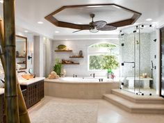 Gilt, soaking tubs, infinity pools and gorgeous tile: Feast your eyes and find inspiration in these sumptuous bathrooms on DIY Network.