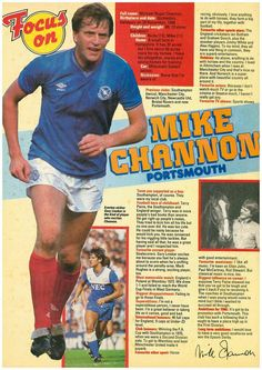 Focus On with Mick Channon of Portsmouth with Shoot magazine in Southampton Football, English Football League, Football Memorabilia, Retro Football, Sports Stars, Portsmouth, Height And Weight, Football Players, In The Heights