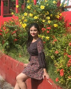 Image may contain: 1 person, standing, flower, plant, tree and outdoor Beautiful Girl Indian, Beautiful Girl Image, Beautiful Indian Actress, Beautiful Toes, Beautiful Saree, Beautiful Ladies, Beautiful Actresses, Stylish Girls Photos, Stylish Girl Pic
