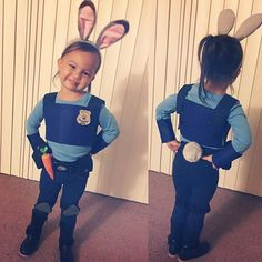 Officer Hopps is ready to hop into Halloween! So, put your hands up and the candy out! This adorable Judy Hopps is getting lots of candy this year! DIY costumes are so much fun . . . . . #judyhopps #zootopia #judyhoppscostume #halloween #diy #diycostume #halloweencostume #kidscostume #costumeideas #disney #officerhopps #trickortreat #rabbit #costume #daughter #momlife #parenting