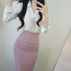 (notitle) - Secretary outfits - - Women in Uniform. - Милые наряды - Women in Uniform Fall Fashion Outfits, Work Fashion, Fashion Dresses, Womens Fashion, Classy Outfits, Cute Outfits, Secretary Outfits, Korean Girl Fashion, Professional Outfits