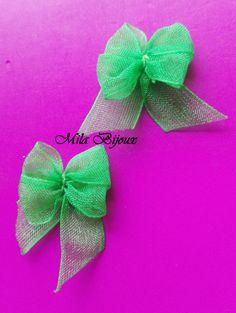 fiocco verde organza, by Mila Bijoux, 0,40 € su misshobby.com