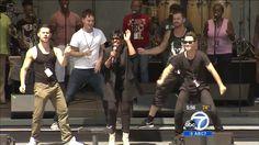 Artem, Henry, Sasha & Tristan rehearsing with Gladys Knight at Hollywood Bowl 8 Aug 2014 - screencap via abc7 media