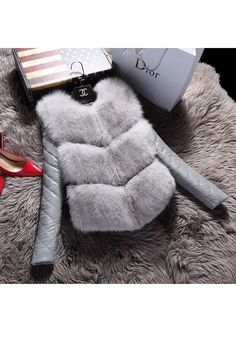 ► parka señora invierno cálido//otoño chaqueta abrigo de piel sintética fur capucha blogueros S//M