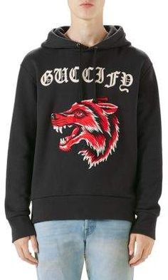 GUCCI wolf motif hoodie.  gucci  cloth    0d68759d191
