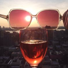 looking at the world through rosé colored glasses