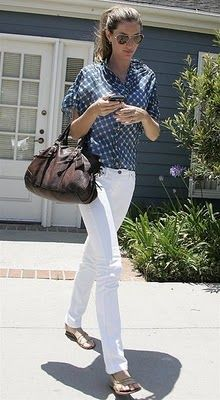 need me some white jeans.