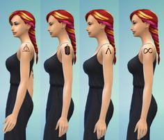 erae-013:  Fandom Shoulder Tattoos by ERae013 Download: Deathly Hallows | Doctor Who | Stargate | Infinity »»All of my CC can also be found onmy blog.«« P.S. Is anyone interested in male versions?