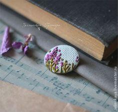 Иван-чай цветет. Брошь - фуксия,малиновый,иван-чай,полевые цветы,брошь из полимерной глины