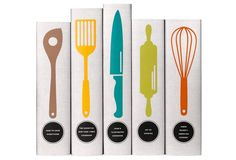 S/5 Classic Cookbooks Utensil Collection by juniper Books, LLC $215