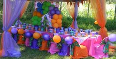 Dora-the-Explorer themed kiddies Party by Co-Ords Kidz Party Boutique