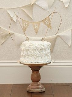 ONE Cake Smash Cake Topper / Photography Prop Banner for Cake / Birthday Cake Banner on Etsy, $12.00 by sherry