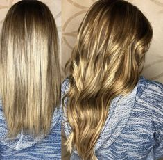 Before and after with tape-in Babe hair extensions!
