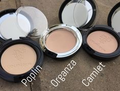 Touch Pressed Powders by Younique - 13 Brand-New shades: poplin, camlet and organza here.