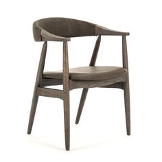 The Raimon Arm Chair is part of Zentique's line. Through the years of business, Zentique's furniture, lighting and home décor have been hand-picked during travels overseas. Zentique has consistently been committed to a timeless design combined with high Leather Dining Room Chairs, Dining Chairs, Quality Furniture, New Furniture, Pouf Chair, Cream Living Rooms, Desk And Chair Set, Mid Century Dining, Grey Kitchens