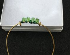 Check out Green copper Bead bracelet,wire bracelet, bangle bracelet, wire wrapped bracelet,beaded bracelet on dawnsbeadsdesigns