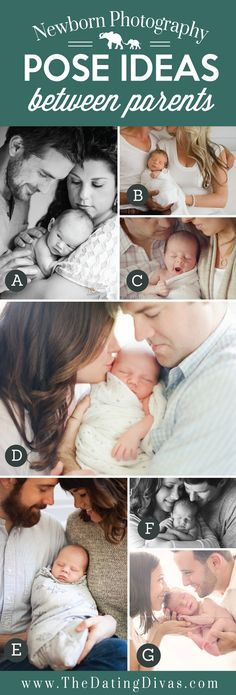 Precious Newborn Photography Pose Ideas with Baby between Parents