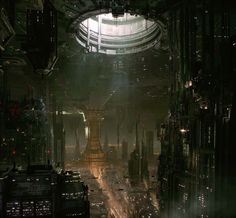 """""""Coruscant Underworld"""" // Star Wars 1313, Game Concept Art (game cancelled after Disney's purchase of SW Property)"""
