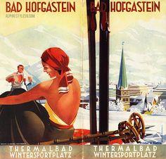 Bad hofgastein austria ski vintage brochure travel Retro Illustration, Illustrations, S Ki Photo, Ski Card, Ski Wedding, Vintage Ski Posters, Railway Posters, Ski Holidays, Travel Brochure