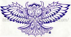 NOTE: WEBSITES THAT PUT OUT LINE DRAWINGS FOR TATTOOS ARE ALSO GOOD PLACES TO LOOK FOR COLORING DESIGNS Commission:Owl tattoo design by lutamesta.deviantart.com on @deviantART