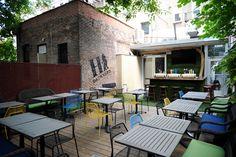 Outdoor Restaurant Patio, Outdoor Dining, Outdoor Decor, Restaurant Ideas, Shake Shack, Backyard Patio, The Great Outdoors, Park, Pretty