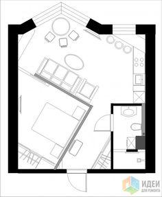 Фотографии [145542]: Перепланировка однокомнатных квартир, новостройки. от дизайнера Валерия Доронина
