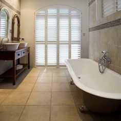 <3 that shutters can look traditional or contemporary. Such a classy premium window treatment!