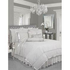 Silver & White Bedroom--