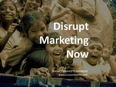 Marketing has been disrupting several businesses for decades. Now it's time for marketers to disrupt its own industry. For business and humanity to co-exist, we must change the way we do marketing.   #SocialGood disrupts marketing.   MARKETING MEETS MANKIND http://www.lincolnmartin.com   #Disruption #Branding #Communications #Marcom #Advertising #Media #Promotion #Philanthropy #Givesback #Charity #SocialEntrepreneur #Sustainable #SharedValues #SocialChange #SocialGood #SocialImpact…