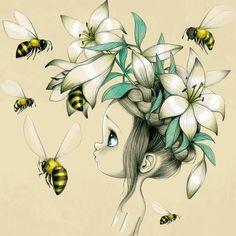 Acte-Deco reproduction on canvas (Wild #9) - Emmanuelle Colin