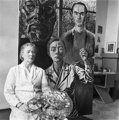 Eva Besnyö. Charley Toorop dans son atelier devant Trois générations, De Vlerken, Bergen, 1950. Eva Besnyö © Maria Austria Instituut, Amsterdam.