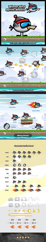 Flappy Winter Bird Game Character Download here: https://graphicriver.net/item/flappy-winter-bird-game-character/15703842?ref=KlitVogli