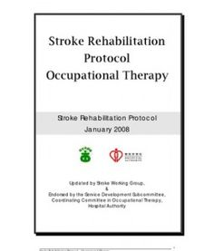 stroke case study occupational therapy The university of toledo the university of toledo digital repository master's and doctoral projects a case study report : occupational therapy for an.