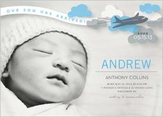 Hes Landed Boy 5x7 Stationery Card by Other Designers   Shutterfly