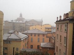 Vista dalle finestre sul giardino dall'Albergo Panorama Bologna IT: