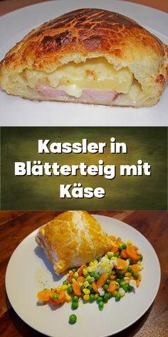 Kassler in Blätterteig mit Käse. Sandwiches, Food, Pineapple, Sheet Pan, Oven, Food Portions, Kochen, Food Food, Finger Sandwiches