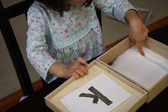salt box letter writing .... diy
