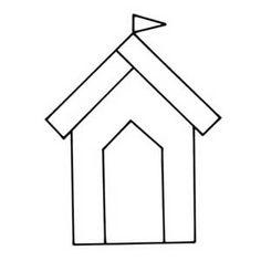 Add Coastal Charm To Your Home With A Beautiful Beach-Hut Doorstop Applique Templates, Applique Patterns, Applique Designs, Owl Templates, Felt Patterns, Printable Templates, Sewing Appliques, Applique Cushions, Applique Quilts