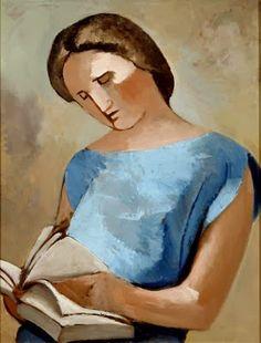 González, Julio (1876-1942) Femme  lisant (mujer leyendo), 1920-30