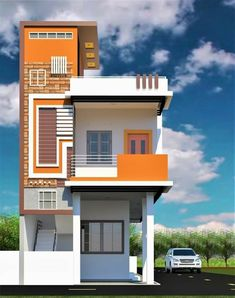 3 Storey House Design, House Main Gates Design, Duplex House Design, House Front Design, Modern House Design, Independent House, 30x50 House Plans, Bungalow Haus Design, Model House Plan